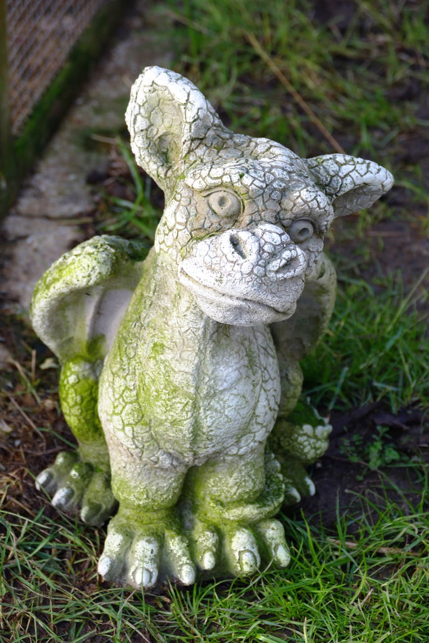 blur close up dragon figure
